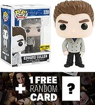 Twilight Saga Edward Cullen (Hot Topic Exclusive): Funko POP! x The Vinyl Figure + 1 Free Official Twilight Trading Card Bundle (097646)