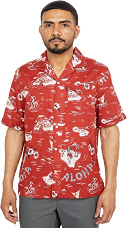 Hula Print Button-Down Shirt