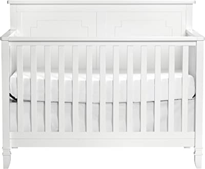 Suite Bebe Asher 4-in-1 Convertible Crib in White - Quick Ship