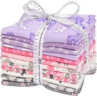 Cozy Cotton Flannel Pink/Purple 12 Fat Quarters Robert Kaufman Fabrics FQ-1530-12