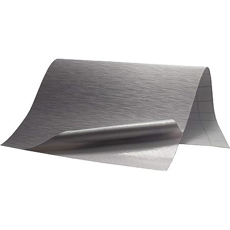 6 5 M Folie Edelstahl Gebürstet Silber 100 X 152 Cm Blasenfrei Selbstklebend Flexibel Dekor Folie Auto Küche Klebefolie Schutzfolie Auto