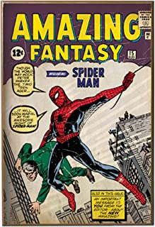 Silver Buffalo MC8536 Spiderman Fantasy First Appearance Wood Wall Art Plaque, 13 x19 inches