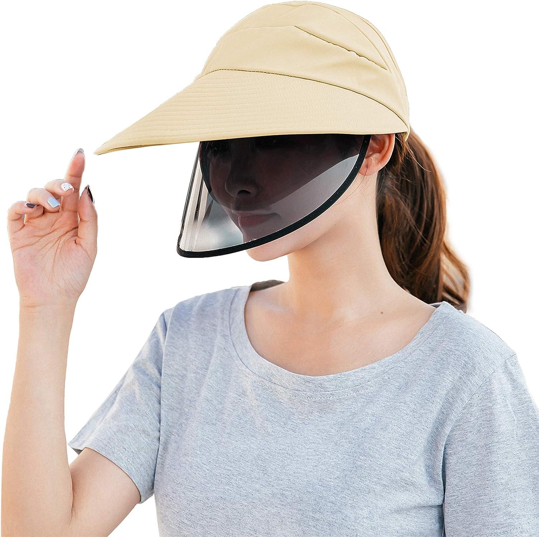 Ayliss Sun Visor Hats Women Summer Outdoor UV Fishing Hat Baseball Cap Wide Brim Beach Hiking Sports Detachable