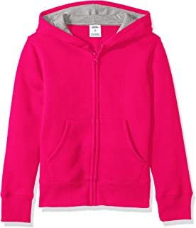 Amazon Essentials Girls' Fleece Zip-up Hoodie