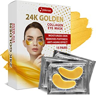 Under Eye Patches - 24k Gold Collagen Anti Aging Under Eye Mask For Dark Circles Puffy Eyes - The Dark Circles Under Eye Treatment - Under Eye Patch - Under Eye Pads - Gel Natural Eye Mask