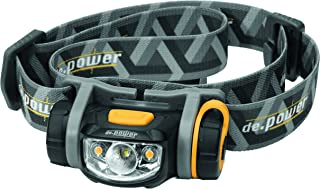 de.power LED headlamp DP-800-AA, Cool spot 89 lumens (ANSI), 140 Warm White Ambient Light, dimmable, 1xAA Battery incl