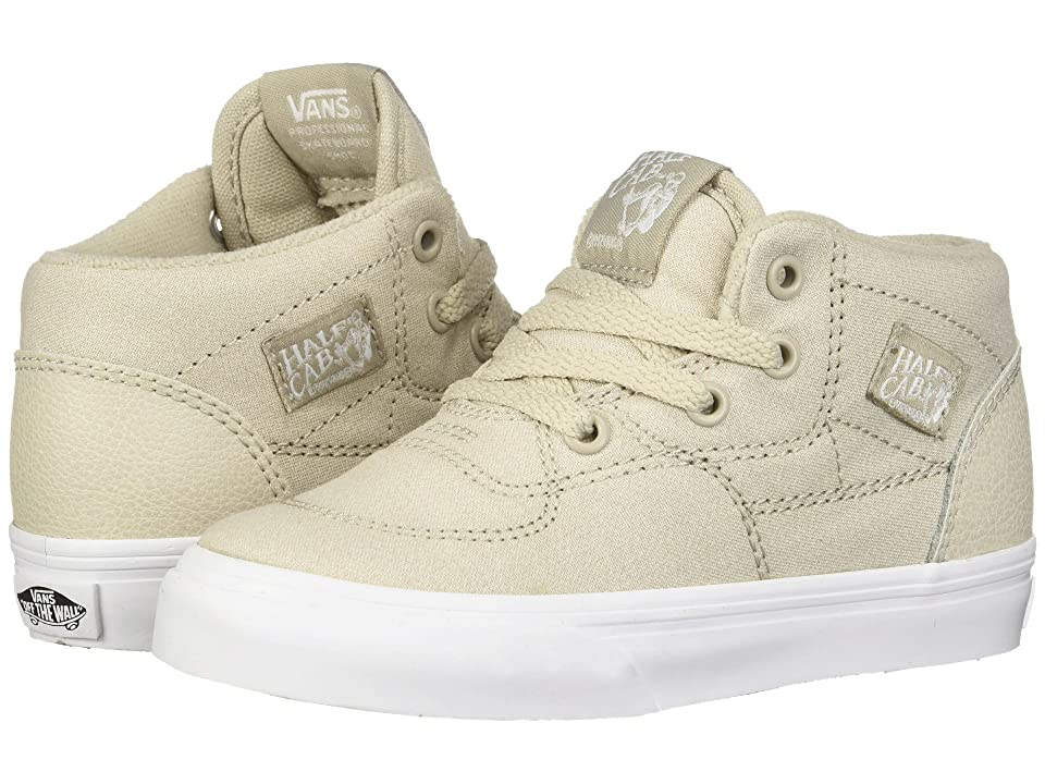 Vans Kids Half Cab (Toddler) ((Suiting) Silver Lining/True White) Boys Shoes