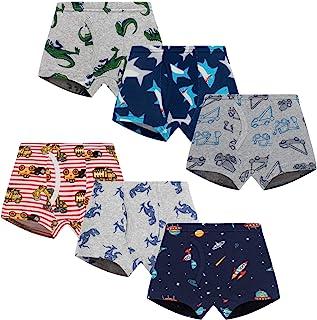 Boboking Little Books Boxer Briefs Dinosaur Truck Shark Toddler Kids underwear