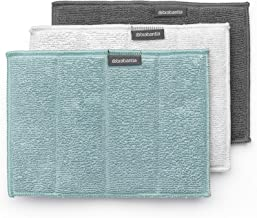 Brabantia 117725 Microfibre Cleaning Pads (Set of 3), Multi-Colour, 16 x 22 cm