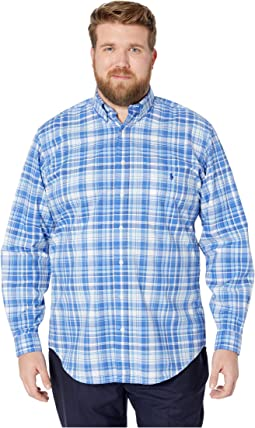 Big & Tall Natural Stretch Poplin Long Sleeve Classic Fit Shirt
