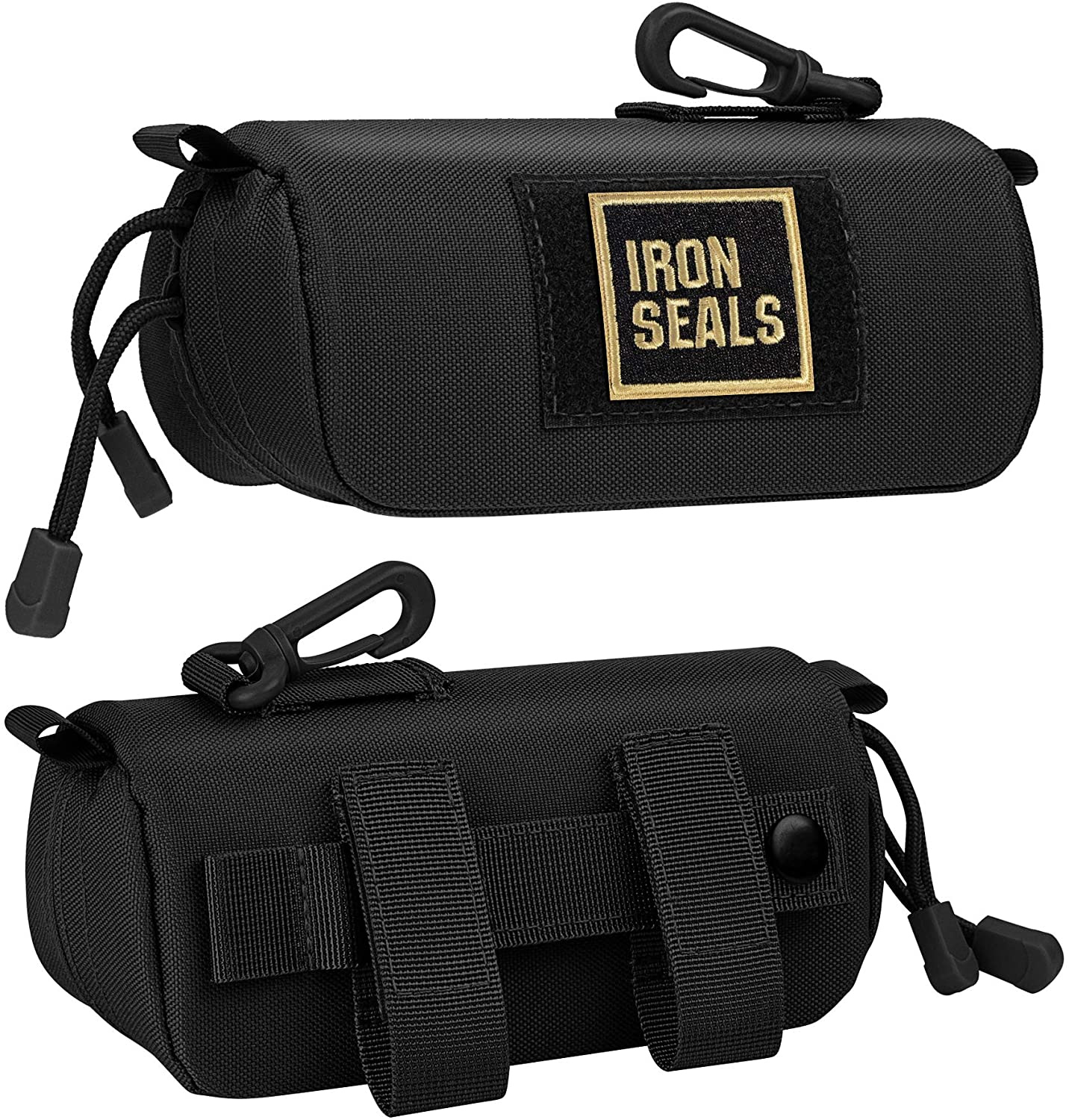 IronSeals Extra Large Tactical Molle Sunglasses Case Anti-Shock Semi-hard Clamshell Glasses Case, X-Large