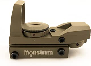 Monstrum Tactical R01C Red Dot Sight with 4 Reticles and Red/Green Illumination
