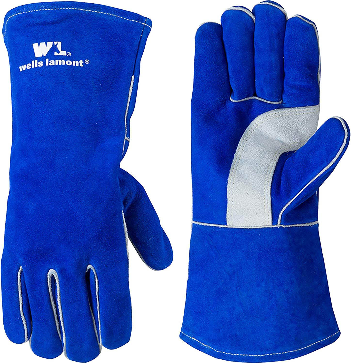 Blue Lined Virginia Beach Mall Leather Welding Gloves Extra 105 2021 Large Lamont Wells