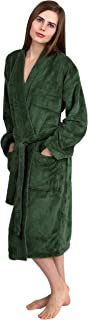 Women's Plush Robe Soft Fleece Kimono Bathrobe Made in Turkey