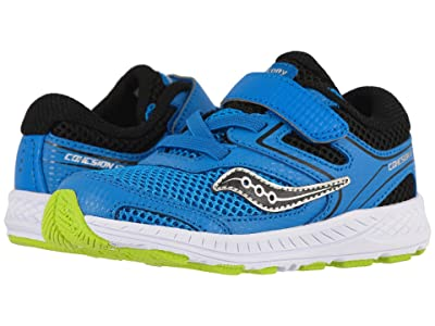 Saucony Kids Cohesion 12 Jr (Toddler) (Blue/Black) Boys Shoes