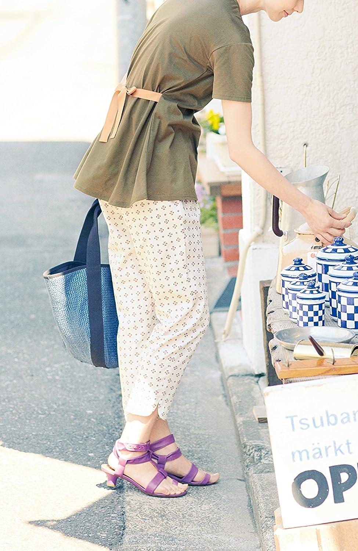 (フェリシモ) GOOD DAYS with GOOD CLOTHES スモーキーカラーの小紋柄プリント パンツ オフホワイト