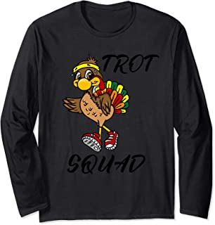 5k Turkey Trot Squad Shirt Pilgrim Thanksgiving Running Gift Long Sleeve T-Shirt