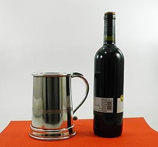 Boccale per birra Grande, regalo festa del papà, in peltro, solido ed elegante. Prodotto a mano in Italia dal maestro Robe...