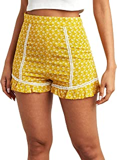 Floral Printed Flippy Shorts with Frill Detail For Women Closet by Styli