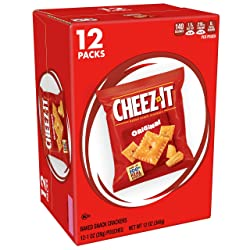 Cheez-It Baked Snack Cheese Crackers, Original, Single Serve, 1 oz Bags(12 Count)