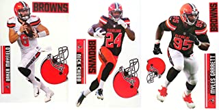 FATHEAD Cleveland Browns Collection 3 Players + Browns Logo Sets Official NFL Vinyl Wall Graphics - Each Player Graphic 17