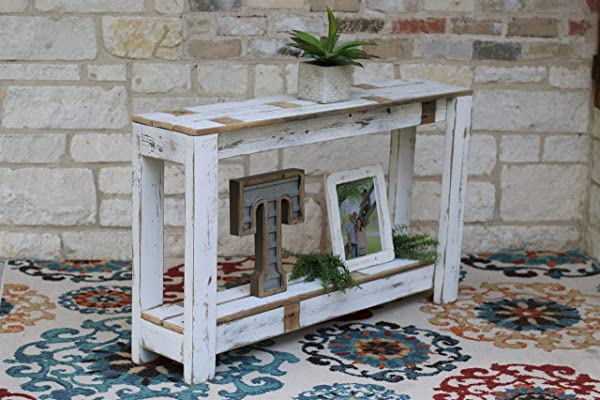 White Farmhouse Console Table 46x10