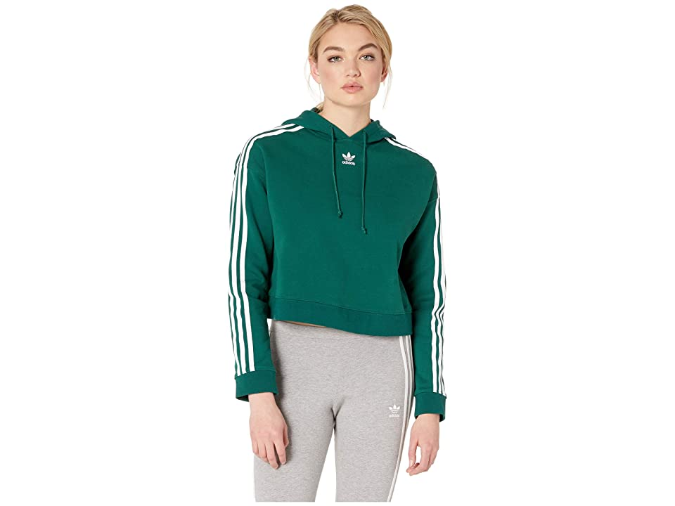 adidas Originals Cropped Hoodie (Collegiate Green) Women
