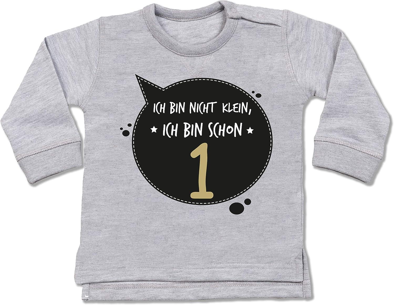 Shirtracer wei/ß//rosa Baby T-Shirt Langarm Geburtstag Baby Ich Bin Schon 2 mit Sternen