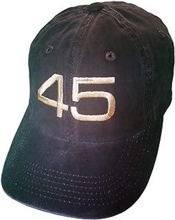 45 Trump Hat/Cap - Black Structured Mesh Back, Unstructured, CAMO