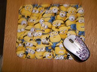 Mouse Pad Packed Yellow Minions Handmade Gift Office Decor Desk Accessory Rectangle MousePad Computer Mouse Pad Mouse Mat