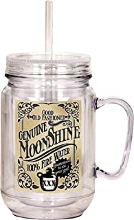 Spoontiques Moonshine Mason Jar, Off White