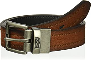 Levi's Boys' Big Reversible Jean Belt with Contrast Stitch