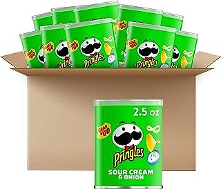 Pringles Potato Crisps Chips, Sour Cream & Onion, 2.5oz (12 Count) Sour Cream and Onion ,30 Ounce