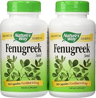Nature's Way Fenugreek Seed, 610 Mg (2 Pack)