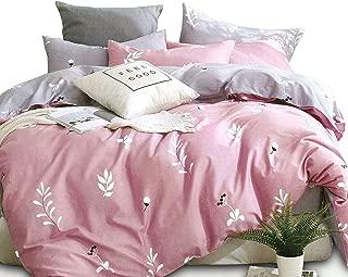 ESSINA King Duvet Cover Set 3pc Kensington Collection, 100% Cotton 620 Thread Count, Reversible Duvet Cover, Pillow Sham, Palmate
