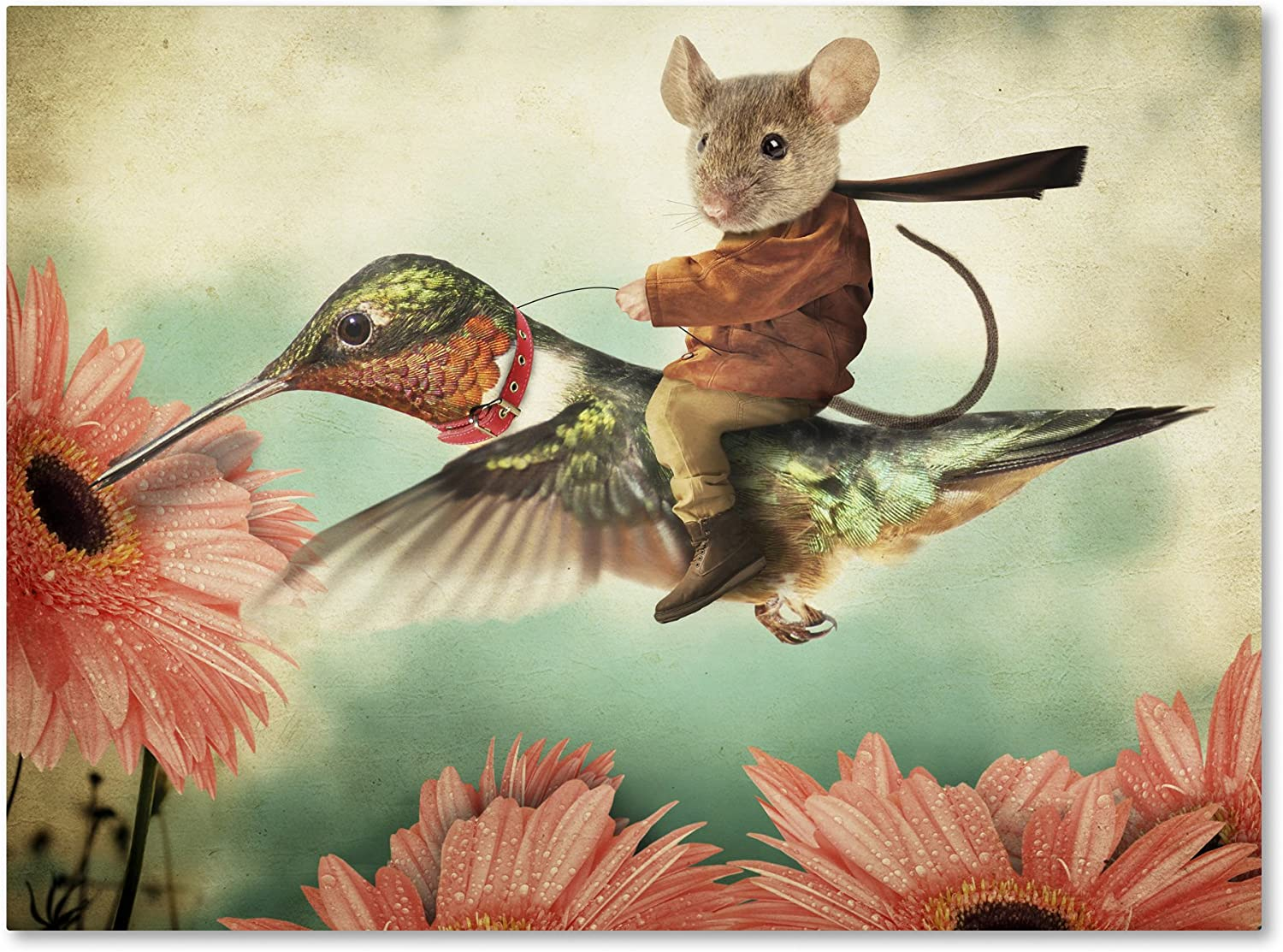 Catching A Ride On Hummingbird Hovenstine 5% OFF Super special price 35x47- by J Studios