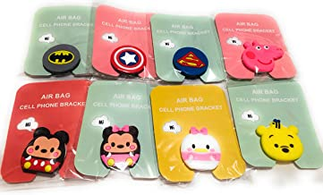 Cool Cartoon Cell Phone Finger Foldable Stand Holder, Hand Grip with Almost All Phones and Cases(Minnie, Mickey, Daisy, Winnie Pooh, Papa Pig, Superman, Batman, Captain America, Paw, Cupcake.