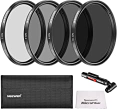 Neewer 52 mm Neutral Density ND2 ND4 ND8 ND16 Filter and Accessory Kit for Nikon D3300 D3100 D3000 D5300 D5200 D5100 D5000 D7000 D7100 DSLR, Lens Pen, Filter Bag