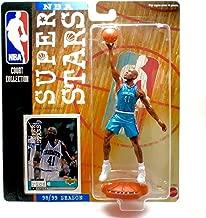 NBA GLEN RICE / CHARLOTTE HORNETS 98/99 Season SUPER STARS Super Detailed Figure, Display Base & Exclusive Upper Deck Collector Trading Card
