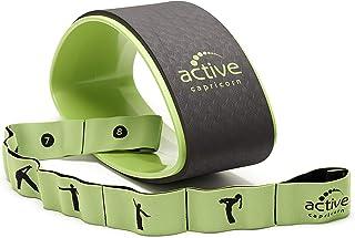 comprar comparacion Juego compuesto por rueda y banda elástica de yoga set de yoga compuesto por rueda de yoga y banda elástica para practicar...