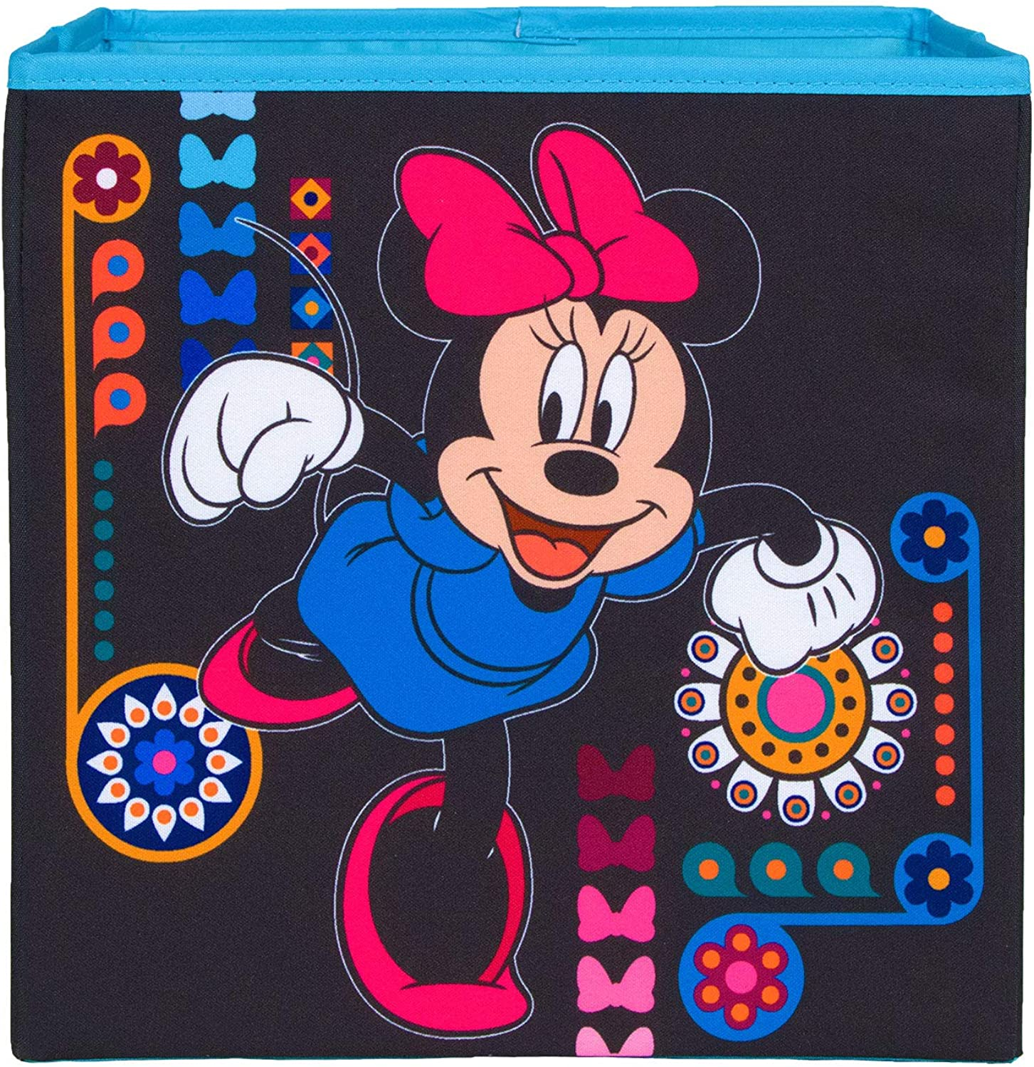 Everything Mary Minnie Mouse Collapsible Storage Bin by Disney - Cube Organizer for Closet, Kids Bedroom Box, Nursery Chest - Foldable Home Decor Basket Container with Strong Handles and Design