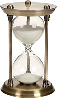 Benzara Metal/Glass Quarter Hourglass with 15 Minutes Time Interval