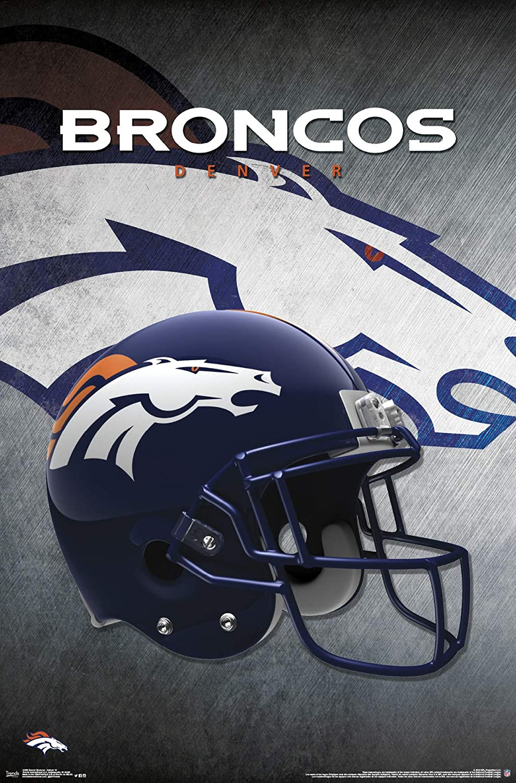 Trends International Denver Broncos-Helmet Mount Bundle Wall Poster 22.375  x 34  Multi