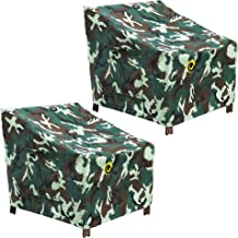 """Outdoor Chair Covers, 2Pack, 30"""" W x 37"""" D x 36"""" H Dining Chair High Back Chair Cover, Heavy Duty Waterproof UV Resistant ..."""