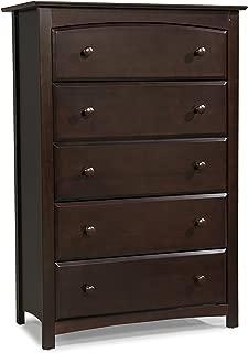 Stork Craft Kenton 5 Drawer Universal Dresser, Espresso