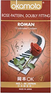 Okamoto Roman Rose Pattern Condoms, 12 ct