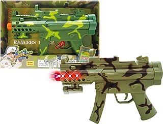 Mozlly Light & Sounds Military Camo Gun, 11.5