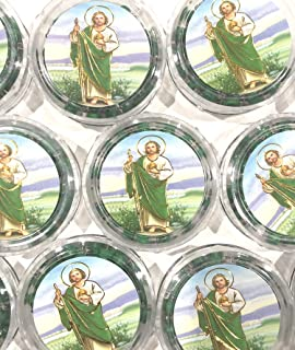 12 Pcs Saint St. Jude Baptism Party Favors Rosaries Scented Recuerdos Bautizo San Judas Tadeo