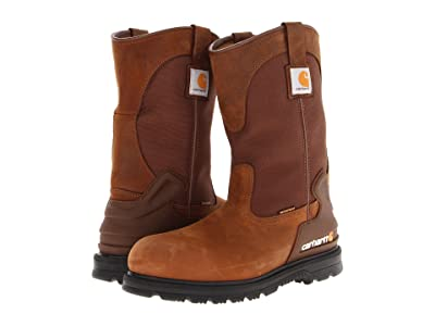Carhartt 11 Waterproof Steel Toe Wellington Boot (Brown Oil Tan) Men