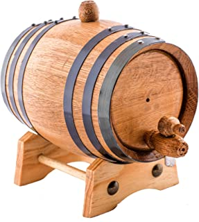 Sofia's Findings 1 Liter American Oak Aging Whiskey Barrel | Age Your own Tequila, Whiskey, Rum, Bourbon, Wine - 1 Liter or .26 Gallon Barrel